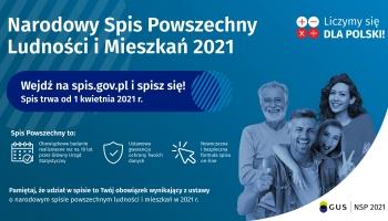 baner -Narodowy Spis Ludności i Mieszkań 2021